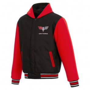 Camaro Two-Way Varsity Jacket | Black/Red