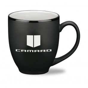 Satin Black Mug | Black/White