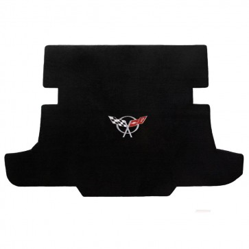 Corvette 1997-2004 Coupe Cargo Mat Black Velourtex C5 Logo
