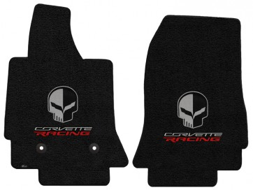 "Corvette Racing ""Jake"" 2 Pc. Ultimat™ Floor Mat Set - Jet (2014 & up)"