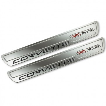 Corvette C6 Z06 Chrome Doorsill Plates