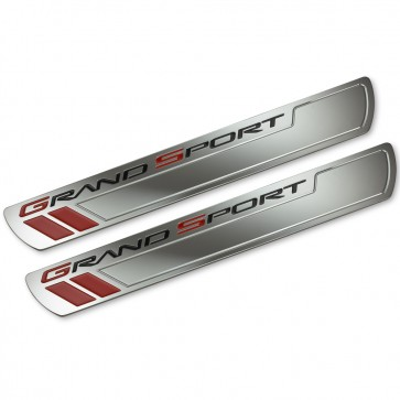 Corvette C6 Grand Sport Chrome Doorsill Plates