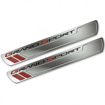 Corvette C6 Grand Sport Chrome Doorsill Plates