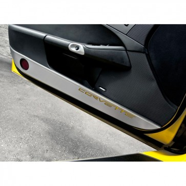 Door Guards with Carbon Fiber Corvette Inlay