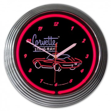 Corvette Sting Ray | Neon Clock