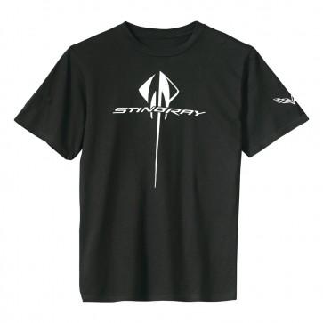 Corvette Vertical Stingray Tee | Black
