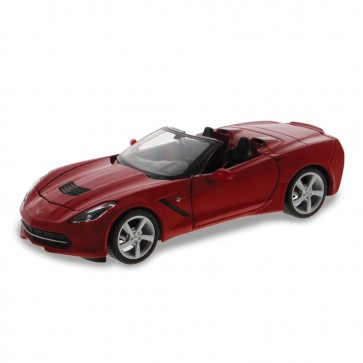 1:24 Scale C7 Corvette | Red Convertible Die Cast