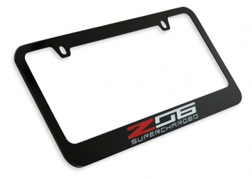 Z06 Supercharged License Plate Frame - Black