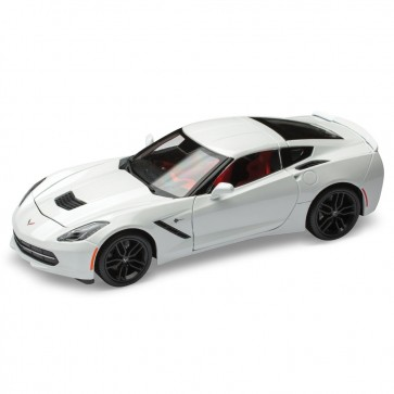 1:18 Scale Corvette Stingray | White Die Cast