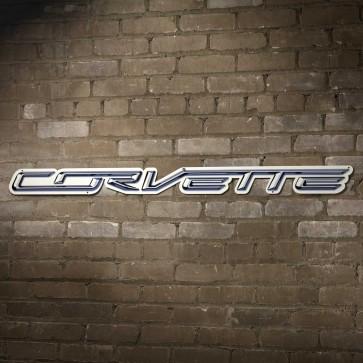 "Corvette Script Steel Sign | 18"" x 1.5"""