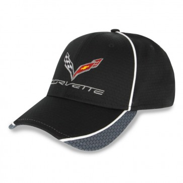 Corvette Hex Pattern Cap | Black/Graphite/White