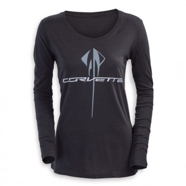 Corvette Long Sleeve | Glitter Tee - Black