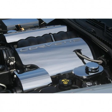 Corvette C6 Polished Fuel Rail Covers - 2008-2013