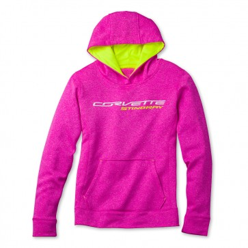 Pretty in Pink Corvette Sweatshirt - Pink Neon