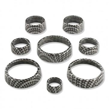 C7 Carbon Fiber Pattern Interior Knob Cover Kit