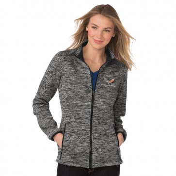 Electric Heather Full-Zip Soft Shell - Gray/Black