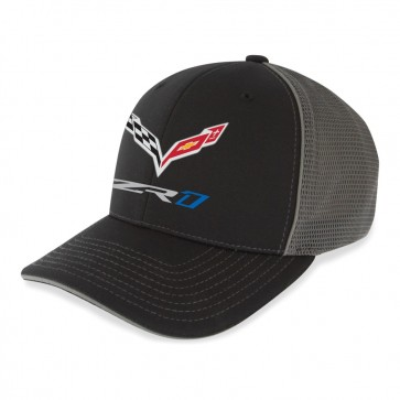 ZR1 SportMesh Flexfit Cap | Black/Charcoal