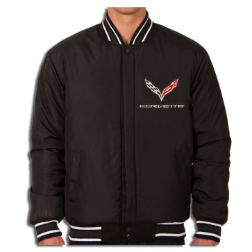 C7 Reversible Varsity Jacket | Black