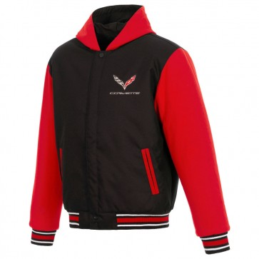 C7 Reversible Varsity Jacket | Black/Red