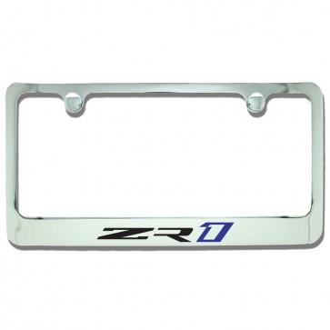 C7 ZR1 License Plate Frame - Chrome