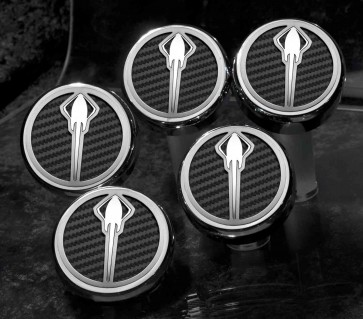 Stingray Emblem Carbon Fiber Fluid Cap Cover Set (Automatic)