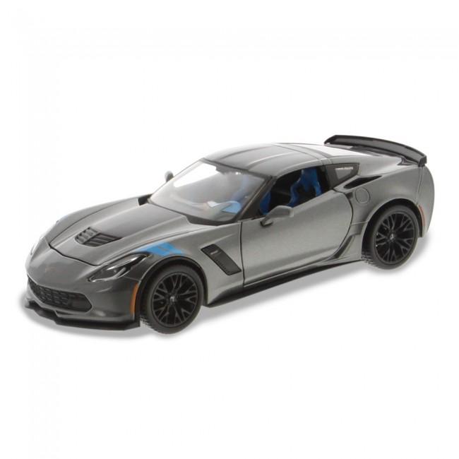 1 24 Scale C7 Corvette   Gray Grand Sport Die Cast 920300f74a