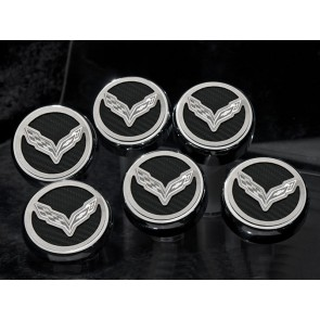 Corvette Stingray Carbon Fiber Fluid Cap Cover Set (Manual)