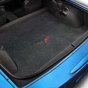Corvette 2005-2013 Coupe Cargo Mat Ebony Ultimat C6 Logo