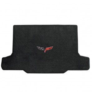 Corvette 2005-2013 Convertible Cargo Mat Ebony Ultimat C6 Logo