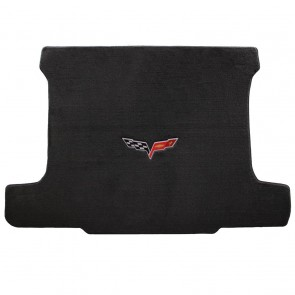 Corvette 2005-2013 Coupe Cargo Mat Ebony Velourtex C6 Logo