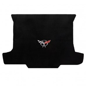 Corvette 1998-2004 Convertible Cargo Mat Black Velourtex C5 Logo