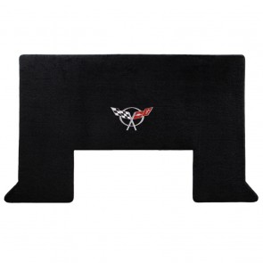 Corvette 2001-2004 Z06 Cargo Mat Black Velourtex C5 Logo