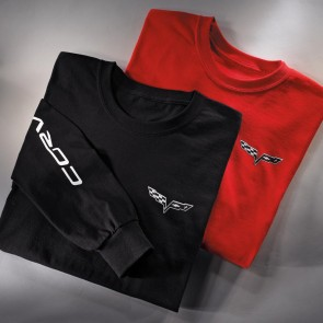 C6 Corvette Long Sleeve Tee | Red or Black