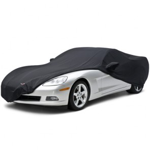 Satin Stretch Corvette C6 Indoor Cover- Black