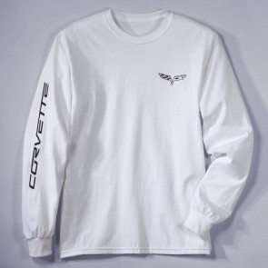 C6 Corvette Long Sleeve Tee | White