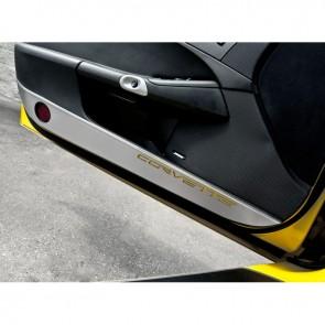 Door Guards with Carbon Fiber Corvette Inlay