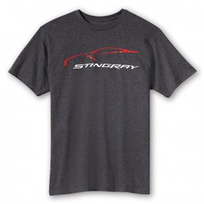 2014 Stingray Car Gesture Tee - Heather Gray