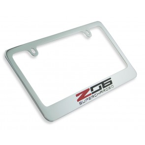 Corvette Z06 Chrome License Frame