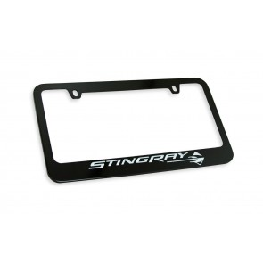 Corvette Stingray Gloss Black License Frame