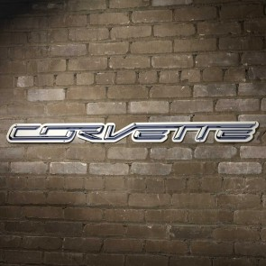 "Corvette Script Steel Sign - 32"" x 3"""