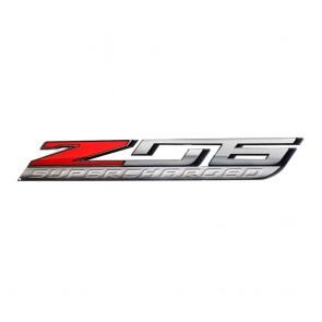 "Corvette ""Z06 Supercharged"" Metal Sign - 18"" x 3"""