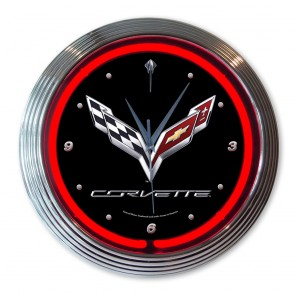 Corvette 2014 Stingray Neon Clock