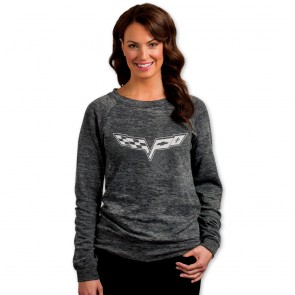 Corvette C6 Burnout Sweatshirt - Graphite