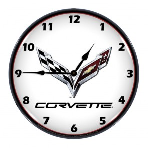 Lighted C7 Corvette Clock