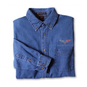 Corvette C6 Denim Shirt - Light Denim