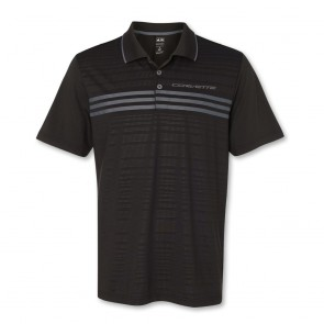 Stingray Three-Stripe Polo by Adidas - Black/Silver