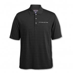 Tonal Stripe Polo - Black