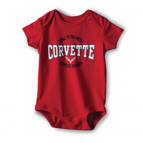 Corvette Youth Onesie - Red