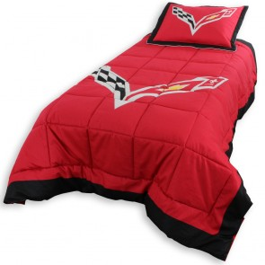 Corvette Reversible Twin Comforter Set with Sham