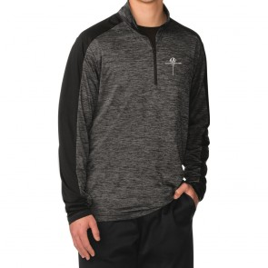 Stingray Quarter-Zip Pullover | Gray Black/Electric Black